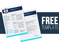 CV & Resume Free Photoshop Template