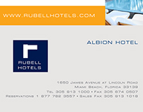 Rubell Hotel's Albion Hotel concierge flyer(s)