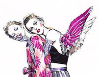 Editorial illustrations. Dries Van Noten.
