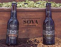 SOVA Brewery // Label Design