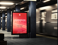 3D Underground / Subway Mock-up / Animated
