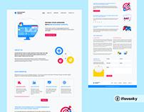 B2B Business Surveys Homepage design
