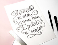 PilaTees Wear · Illustration and calligraphy
