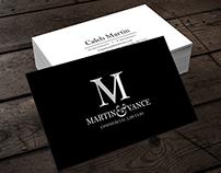 Martin & Vance Logo Design