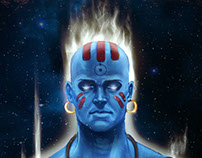 Dhalsattan Illustration (Dr.Manhattan+Dhalsim)
