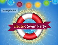 ASU Electric Swim Party Flyer