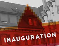 Invitation card - Sainte-Croix -building's inauguratio