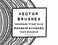 Vector Brushes - Handmade Tribal Style Graphics