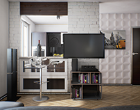 the apartment interior in Unreal engine 4