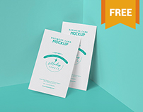 Free Visiting Card PSD Mockup