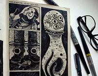 sketches, debujos, desenhos