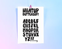 WhatUp Buttercup Hand Painted Font 2017