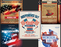 American Day Flyer Template Bundle