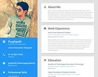 My Resume Version 1