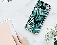 Be unique collection. flowers and lines phone case