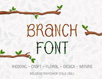 Tree Branch Font