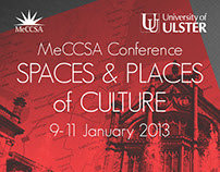 MeCCSA 2013 - Spaces and Places of Culture