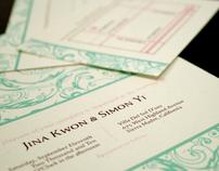 Jina & Simon Wedding Invitation