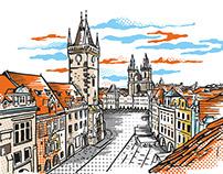 Illustrations for silkscreen printing