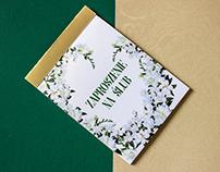 Wedding Invitation: Emerald Green & Gold