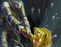 Golden hammer robot