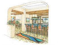 home interior rendering-kitchen/dining