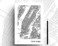 Minimal map design