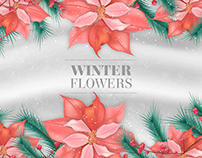 Winter Flowers' Background | Designed for Freepik