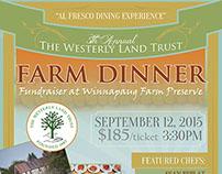Westerly Land Trust Farm Dinner Event Poster Designs