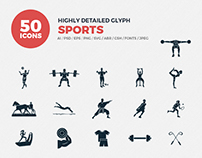 JI-Glyph Sports Icons Set