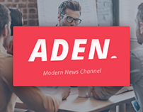 Aden - Modern News Channel Identity. Vol. 1