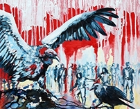 occupy - oil paint