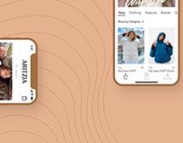 Mobile App Concept - Redesign Aritzia