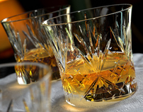 3D Whisky Glasses - Advertising Imagery