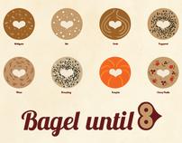 Bagel until 8 – Old School Bagel Cafe Promotion