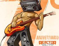 Cartel septimo aniversario de Reactor 105.7