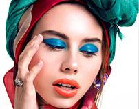 Kaleidoscope. Beauty editorial in Giuseppina Magazine.