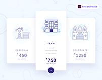 Pricing Plan UI - Freebie