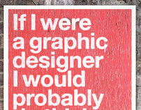 If I were a graphic designer posters.