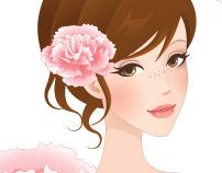 Flower Girl Book Covers