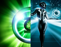 TRON LEGACY and Green lantern poster
