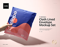 Cloth Lined Envelope Mockup Set