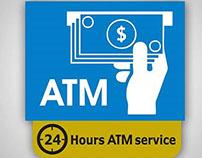 ahli united bank ATM Sign