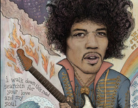 Jimi Hendrix - 11 Moons Played Across The Rainbows