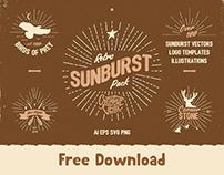 Vintage Glory: Free Sunburst Vector Set