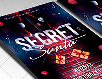 Secret Santa - Christmas Flyer PSD Template