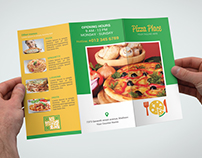 Pizza Place Trifold Brochure Bundle_2 in 1