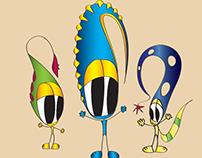 Funny Fellows Cartoon Characters