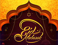 Greeting Card & FB Cover Design for Eid Mubarak