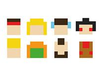 Street Fighter Pixels